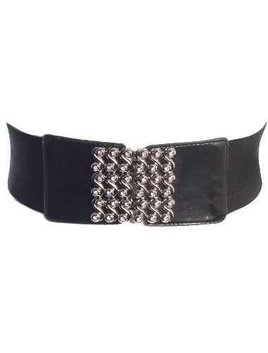 Plus Size Diamond Swirl Stretchy Belt