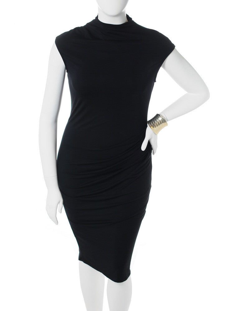 Plus Size City Chic Turtle Neck Sleeveless Dress