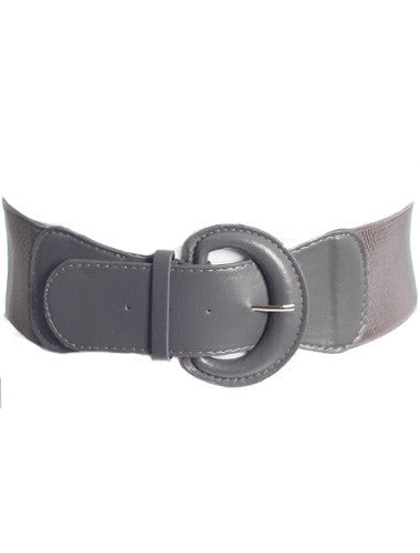 Plus Size Sexy Buckle Stretchy Grey Belt