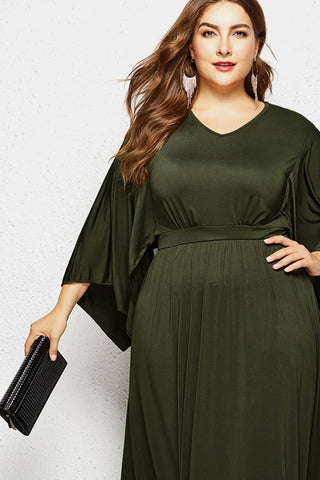 Plus Size Spotlight Gorgeous Solid Color Maxi Dress