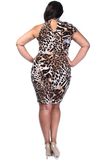 Fierce One Shoulder Plus Size Dress