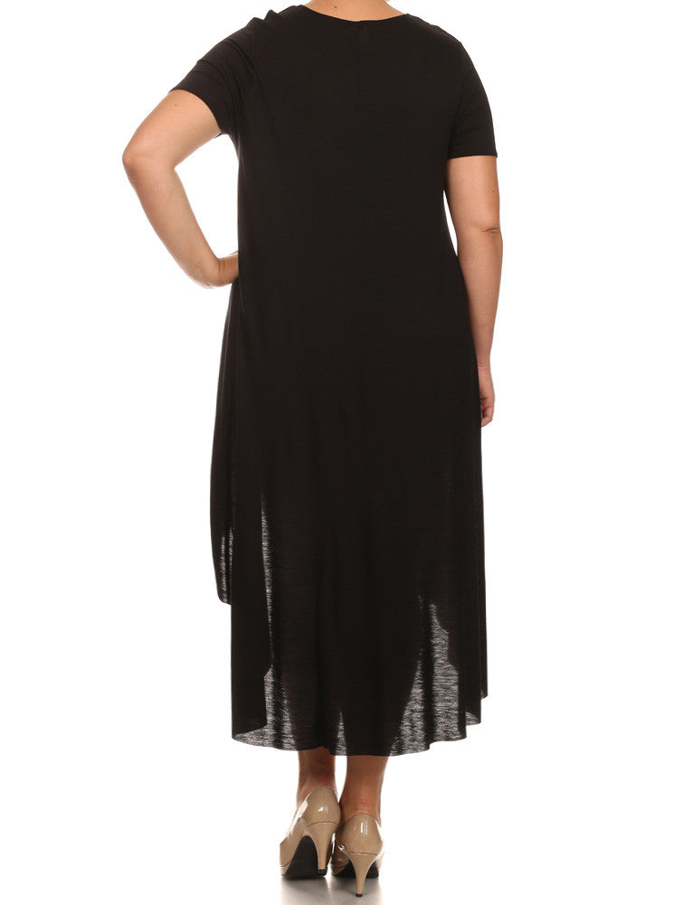 Plus Size Mod Girl Black Maxi Tee