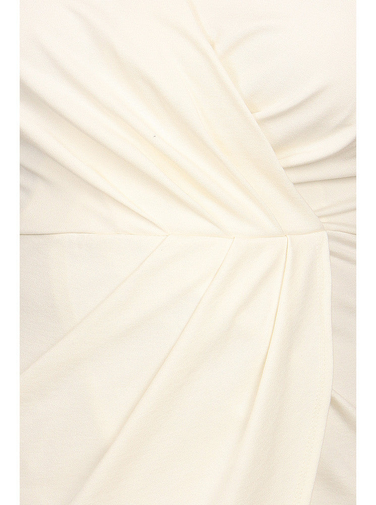 Plus Size Mesmerize In Pleats White Dress