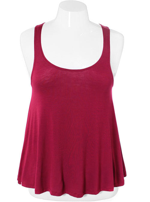Plus Size Sexy Classic Rose Tank