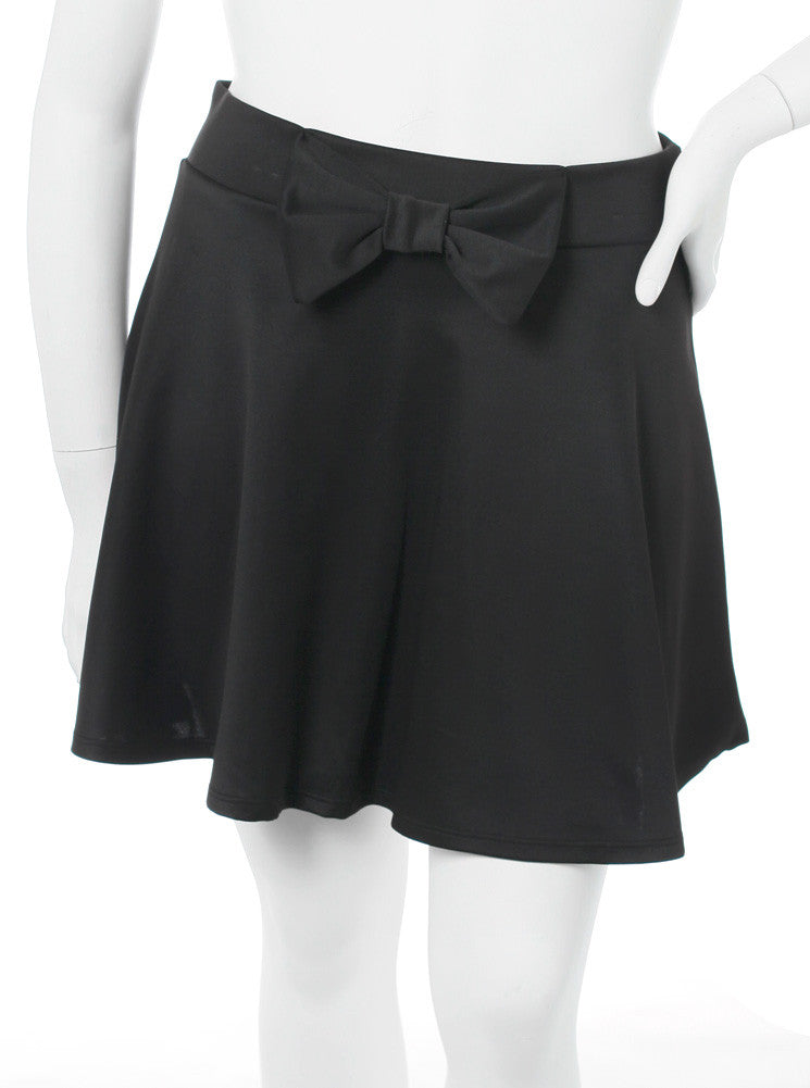 Plus Size Adorable Bow Black Skirt