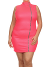 Plus Size Night Diamond Pink Bodycon Dress