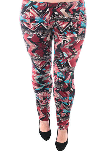 Plus Size Trendy Southwest Print Leggings