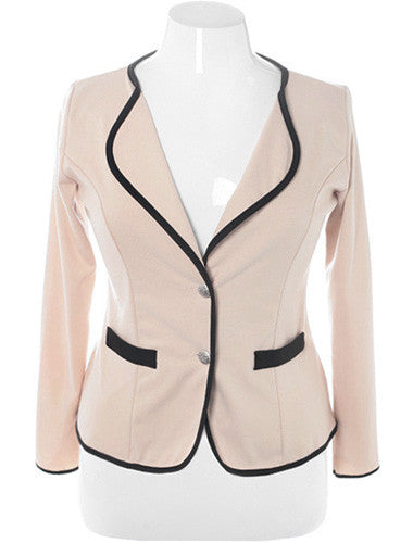 Plus Size City Girl Blazer Tan Jacket