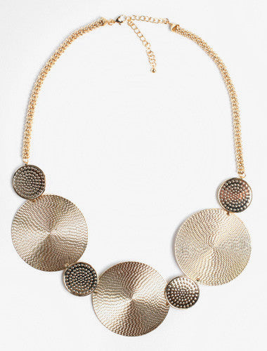 Gold Diva Disk Chain Necklace