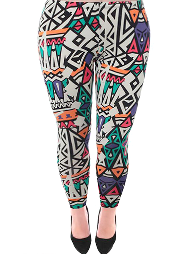 Plus Size Colorful Pop Art Leggings