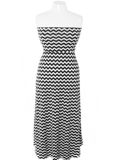 Plus Size Sexy Zig Zag Tube Maxi Dress