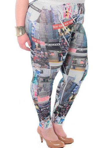 Plus Size New York City Girl Leggings