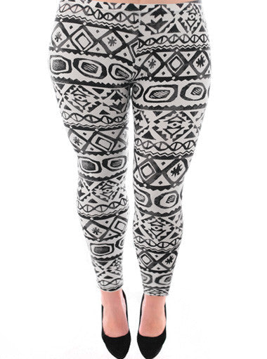 Plus Size Hot Tribal Print Leggings