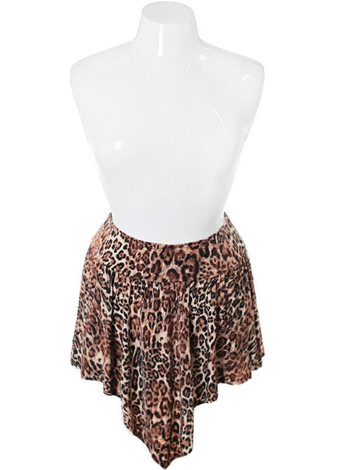 Plus Size Sexy Leopard Print Point Skirt