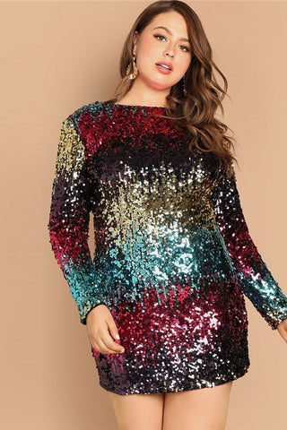 Plus Size Shine On You Body-con Sequin Dress
