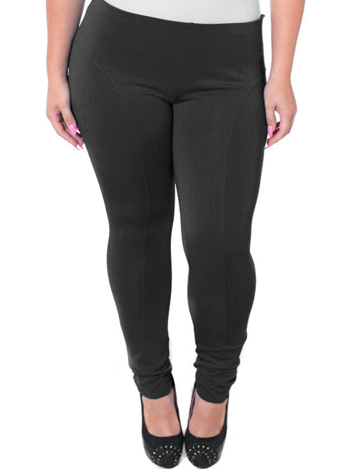 Plus Size Stretchy Soft Black Skinny Pants