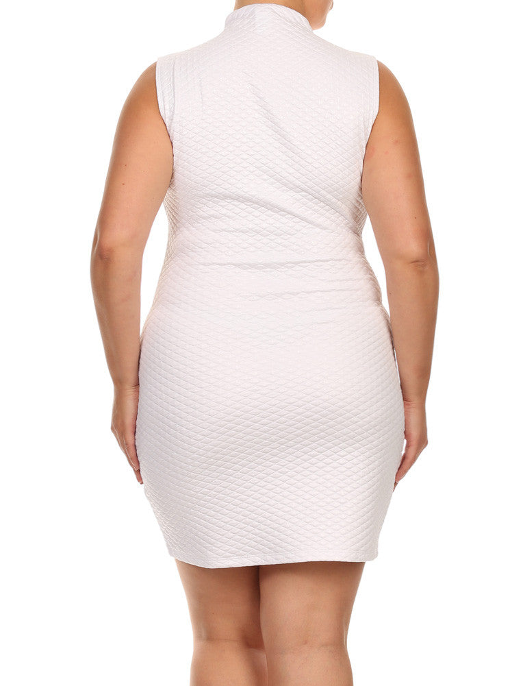 Plus Size Night Diamond White Bodycon Dress