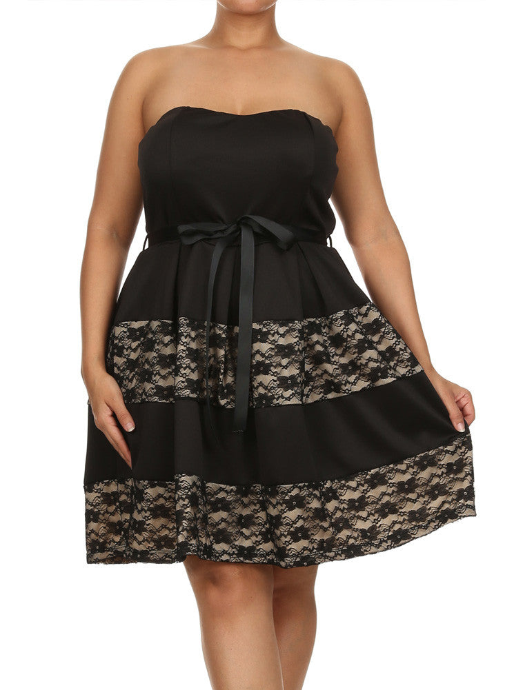 Plus Size Love Embrace Floral Lace Dress