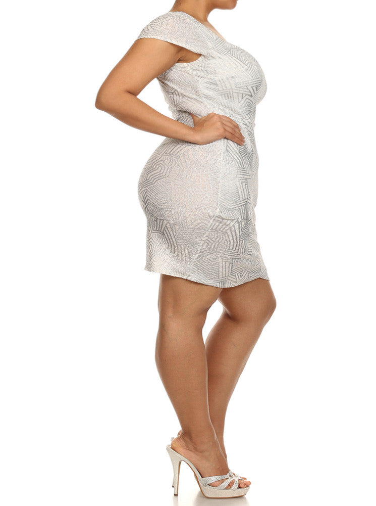 Plus Size Dazed Dream White Mini Dress
