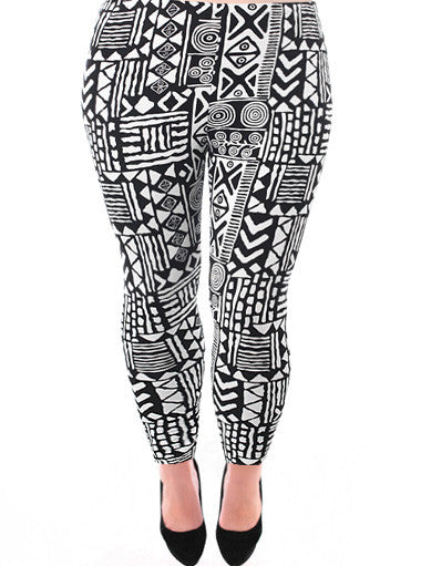 Plus Size Hot Southwest Print Leggings