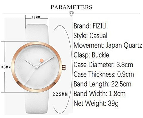 Analog Watches Rose Gold Minimalist Quartz Ultra Thin Watch