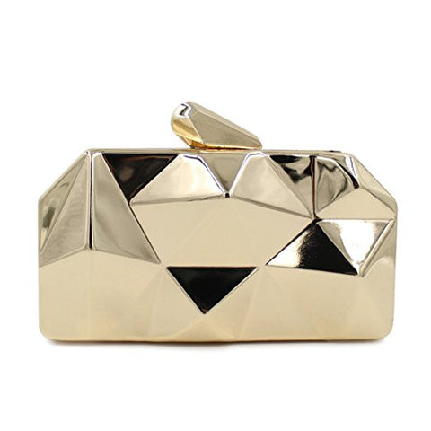 Alloy Metal Abstract Stone Clutch Purse Evening Handbag