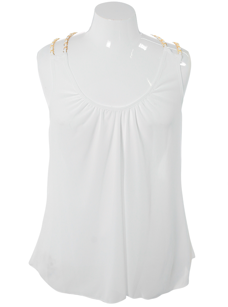 Plus Size Dashing Sheer White Top