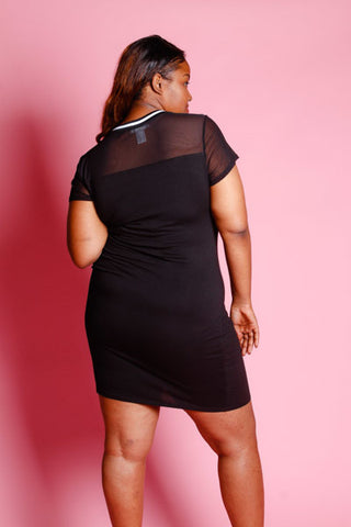 Plus Size Flawless Cutie Mesh Top Dress