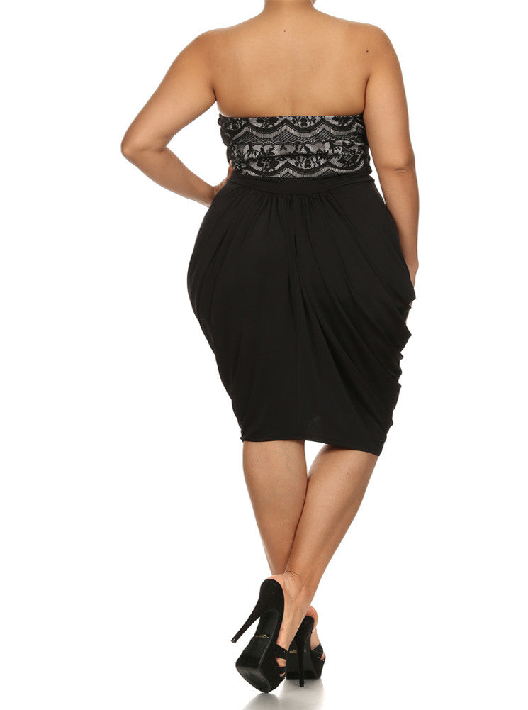 Plus Size Pretty In Lace Bubble Dress
