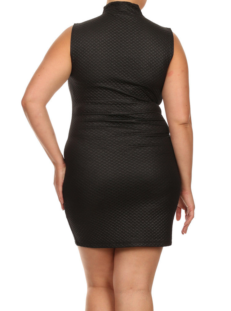 Plus Size Night Diamond Black Bodycon Dress