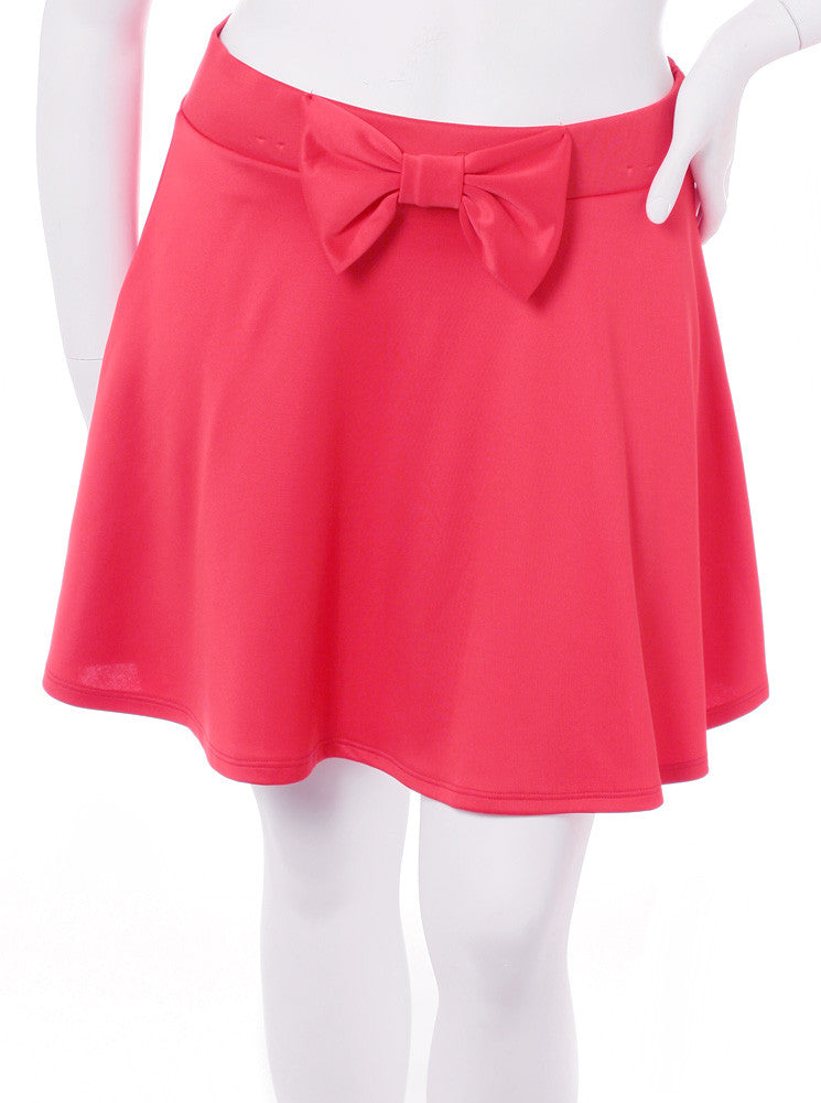 Plus Size Adorable Bow Coral Skirt