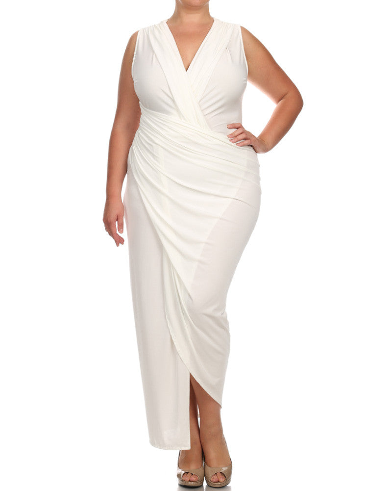 Plus Size Night To Remember White Maxi Dress