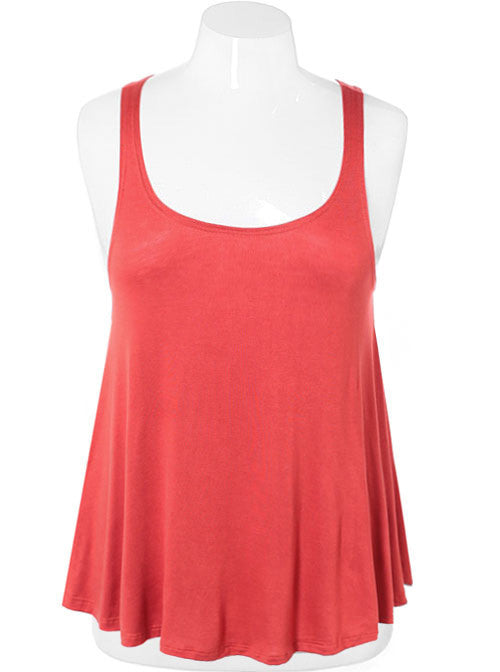 Plus Size Sexy Classic Orange Tank