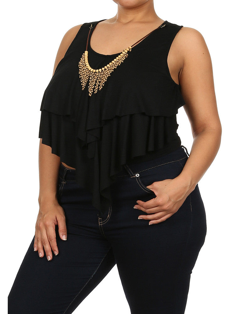 Plus Size Sweet Thing Black Crop Top