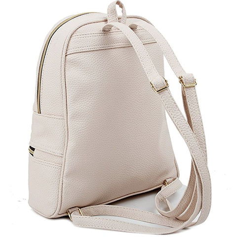 Quilted Faux Leather Backpack Ivory