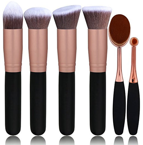 Powder Liquid Cream Oval Makeup Brushes Set Synthetic Makeup brushes