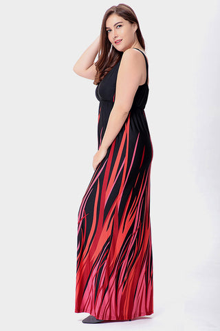 Plus Size Light My Fire Vibrant Empire Maxi Dress