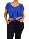 Plus Size Eye Magnet Blue Crop Top