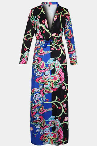 Plus Size Enticing Hues Paisley Print Maxi Dress