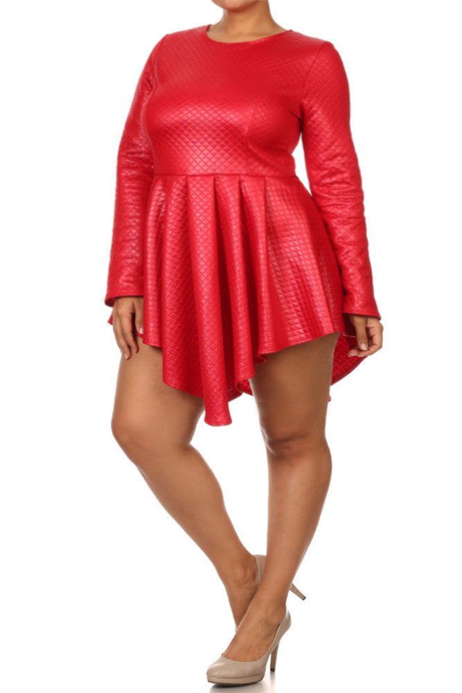 Size 1 red dress leather