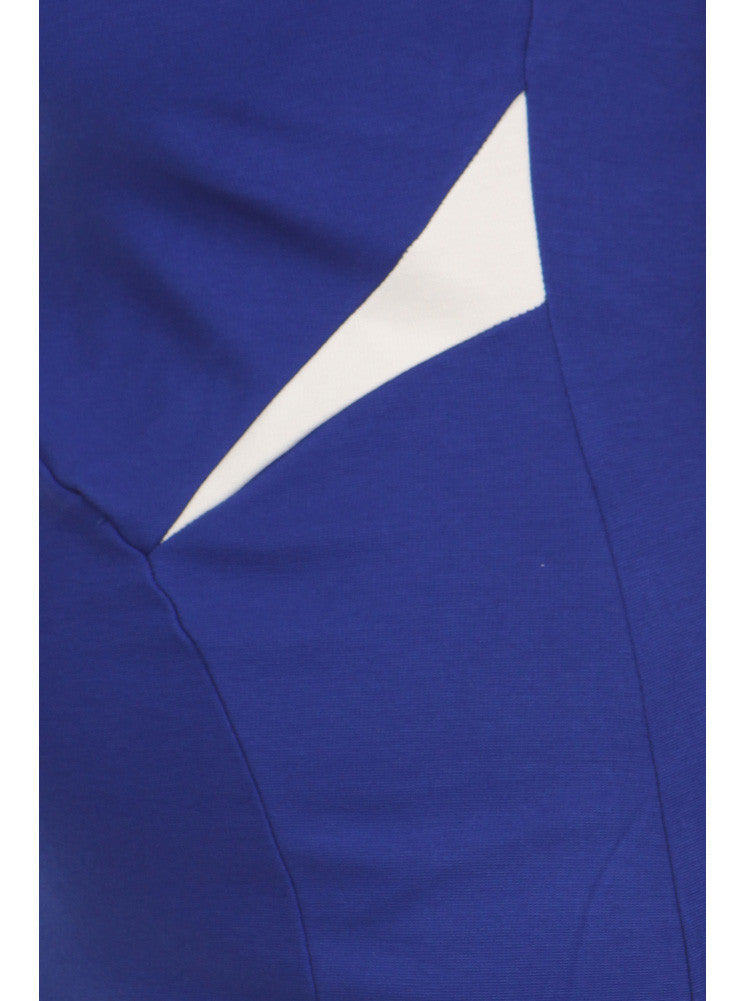 Plus Size Color Block Blue Tube Dress