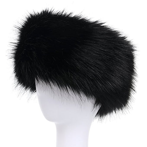 La Carrie Faux Fur Headband with Stretch Women's Winter Earwarmer Earmuff