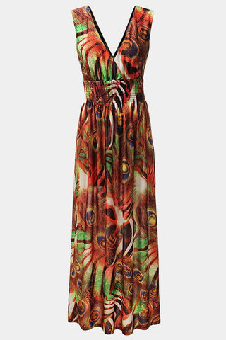 Plus Size Daring Animal Print Maxi Dress