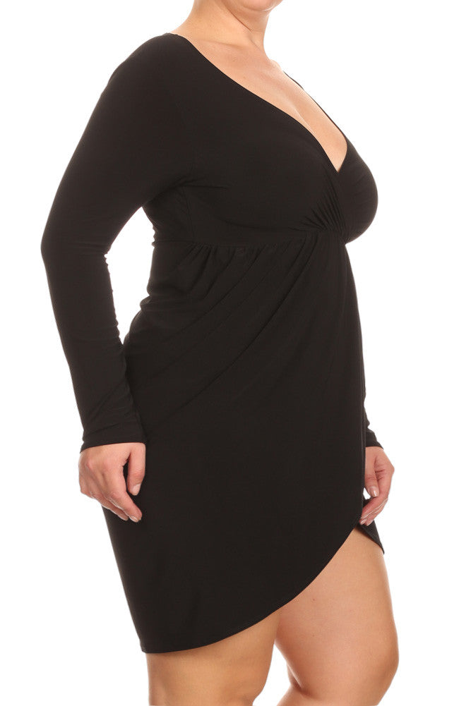 Plus Size Love Vibes Surplice Dress