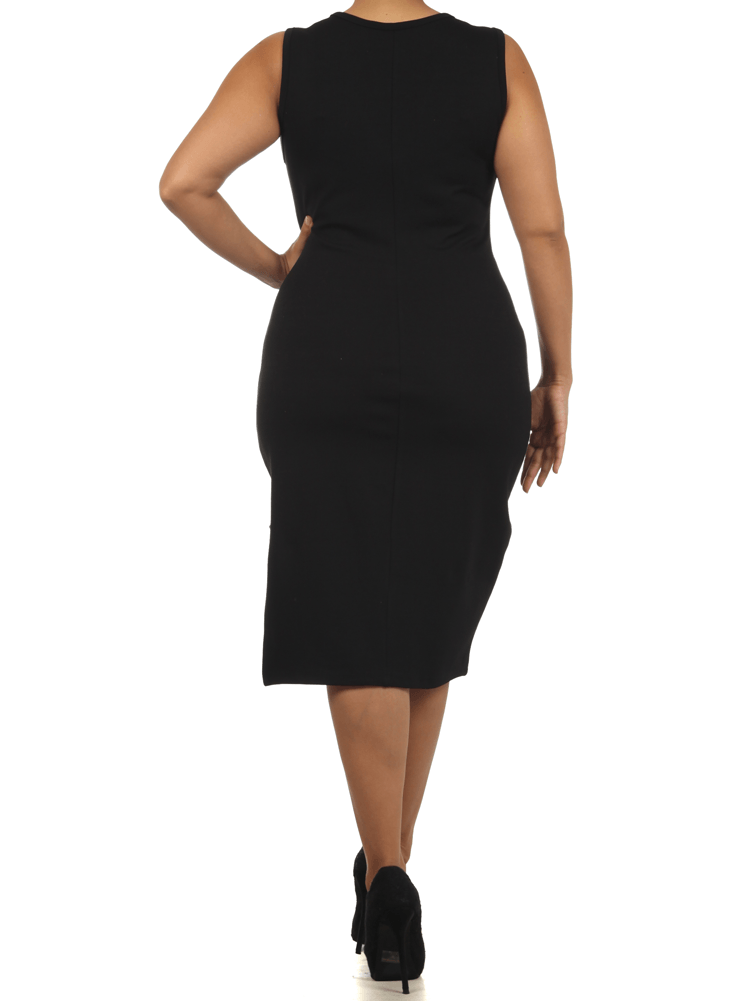 Plus Size Cat Walk Mesh Midi Dress