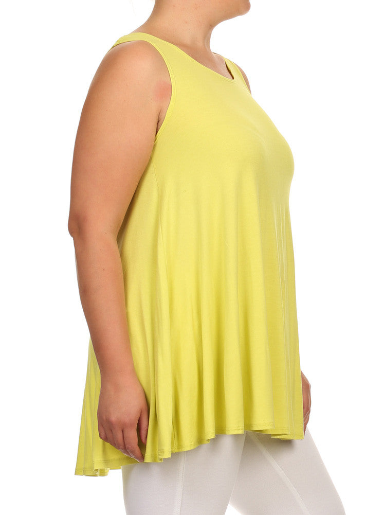Plus Size Let's Go Out Yellow Top
