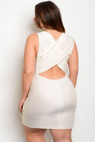 Plus Size Elegant Wrap Bodycon Dress