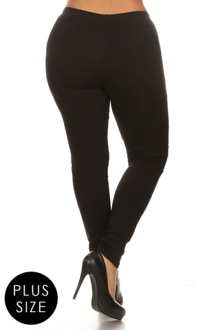 Plus Size Mesh Panel High Waist Leggings
