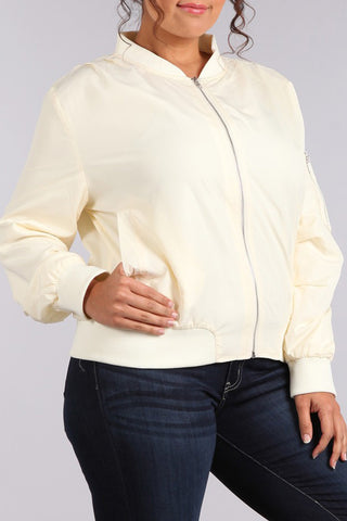 Slay Cool Plus Size Bomber Jacket