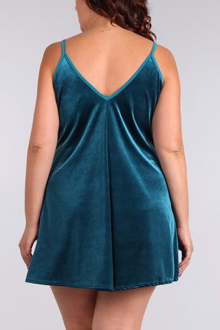 Gleeful Night Plus Size Velvet Shift Dress